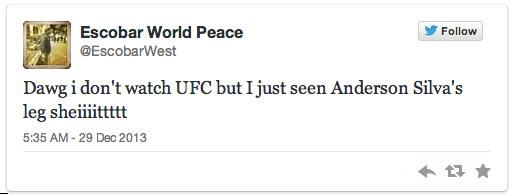 anderson 3 Twitters Unsympathetic Reaction To Anderson Silva Breaking His Leg