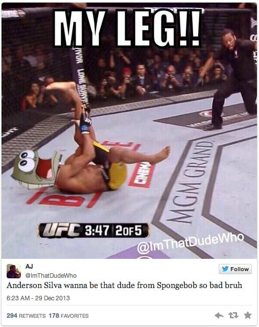 anderson 6 Twitters Unsympathetic Reaction To Anderson Silva Breaking His Leg