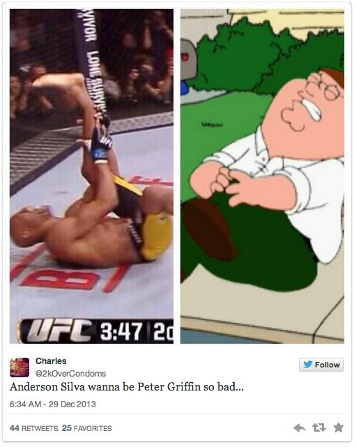 anderson 7 Twitters Unsympathetic Reaction To Anderson Silva Breaking His Leg