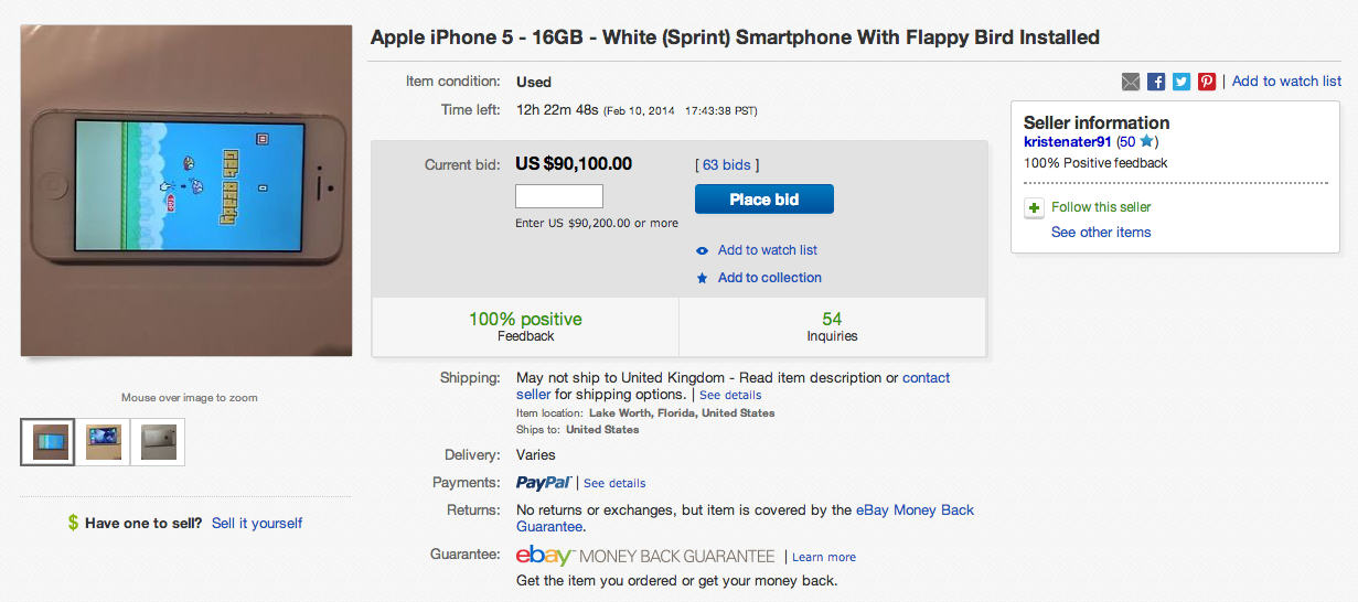 Devices With Flappy Bird Installed Are Making People Rich After Game Is Taken Down 2