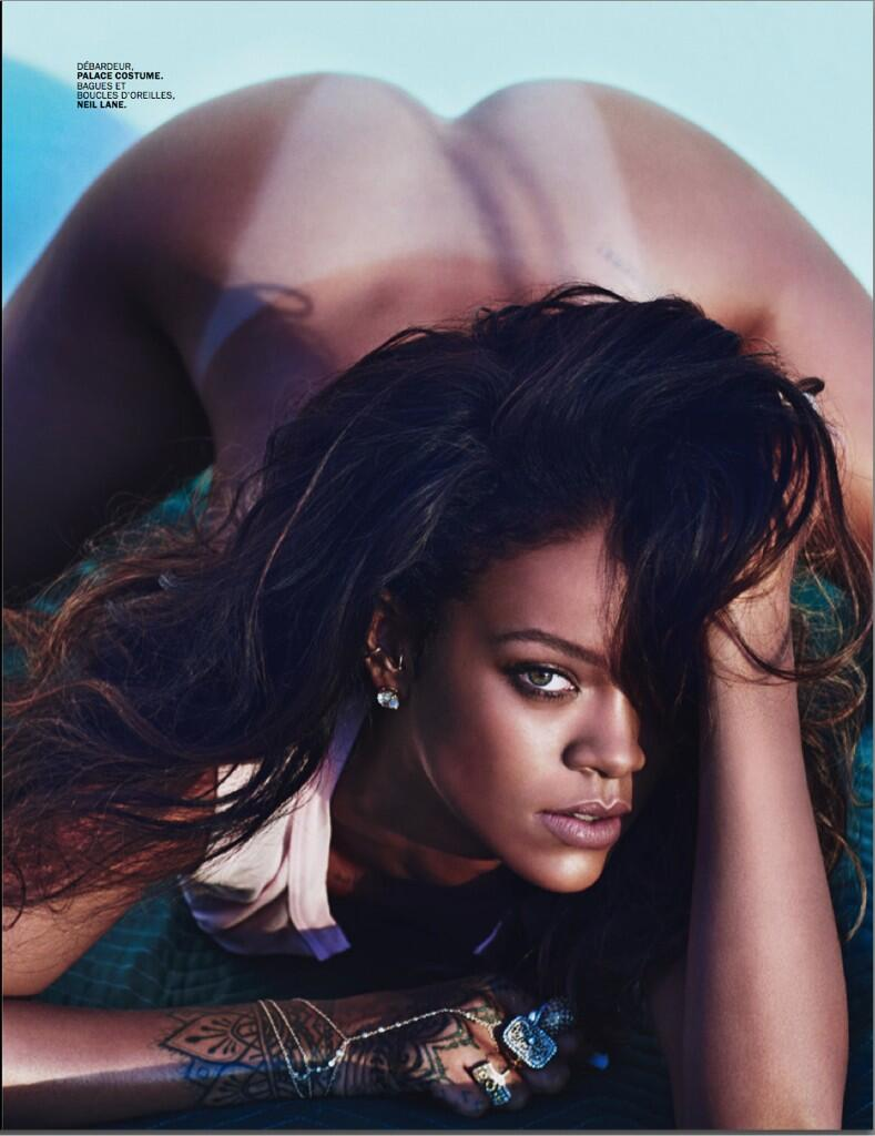 Rihanna Misplaces Her Clothes For Another Naked Shoot (NSFW) BmaMuctCAAE9dt