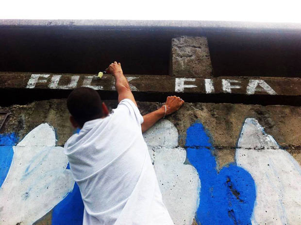 Brazils Anti FIFA Graffiti Ahead Of The World Cup 53860f8f2be65