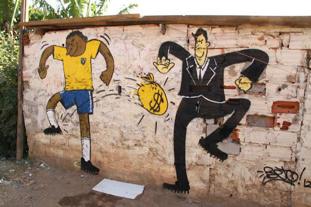 Brazils Anti FIFA Graffiti Ahead Of The World Cup 53860f9932a8a