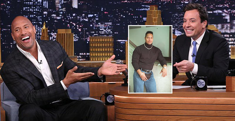 125 The Rock Explains THAT 90s Photo On The Tonight Show