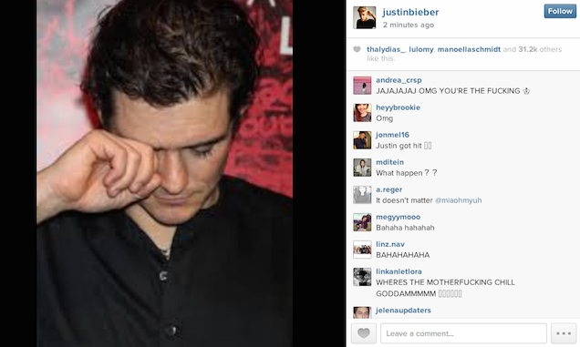 Bieber idiot Justin Bieber Reacts To His Fight With Orlando Bloom