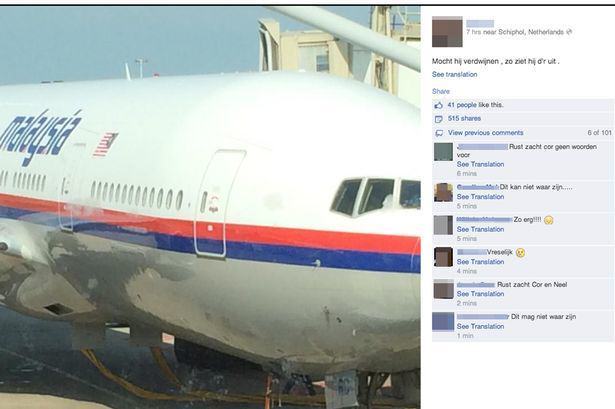 Passenger On Flight MH17 Joked About It Going Missing Before It Was Shot Down an image reported to the last image of malaysia airlines plane mh171