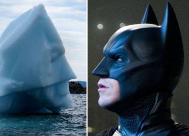 batberg Batman Face Found On Canadian Iceberg
