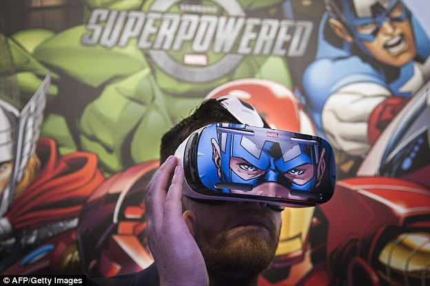 1409763759393 wps 10 A man tries out the Samsu Gear VR: Samsung Reveal Innovative New Gaming Headset