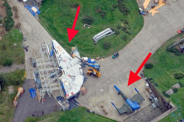 Star Wars Episode 7 Millennium Falcon Spotted Being Built ad145461426star wars fans