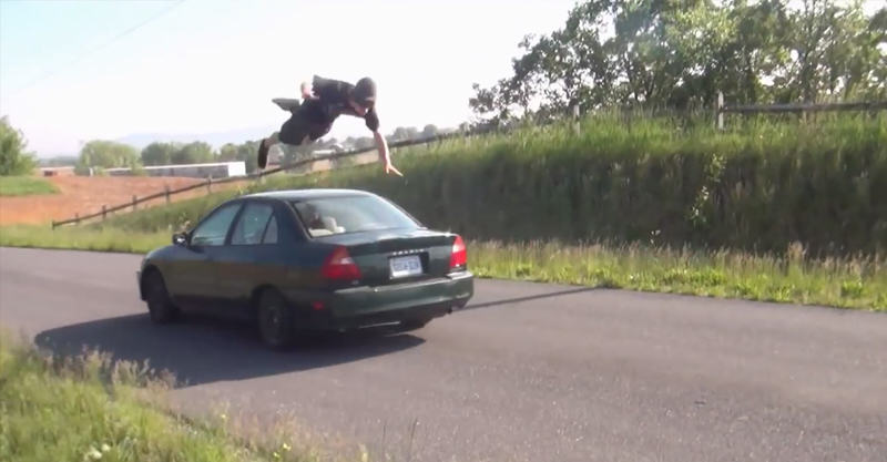23 10 Guys That Failed To Jump Over A Moving Car
