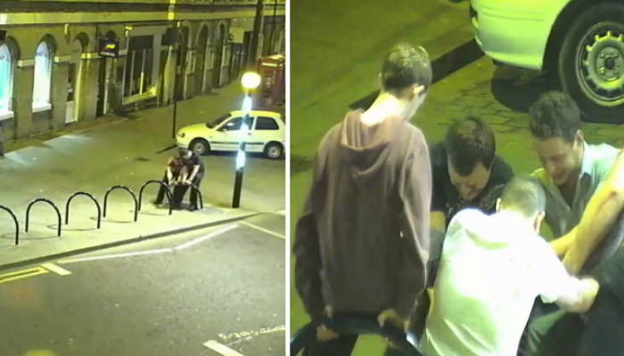 These Drunk Lads Team Up To Fix A Bike Rack at 3AM bike rack web thumb1