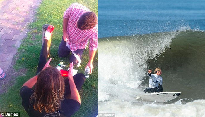 foot5 Lucky Lad Survives Shark Attack After Mistaking Shark For Rock