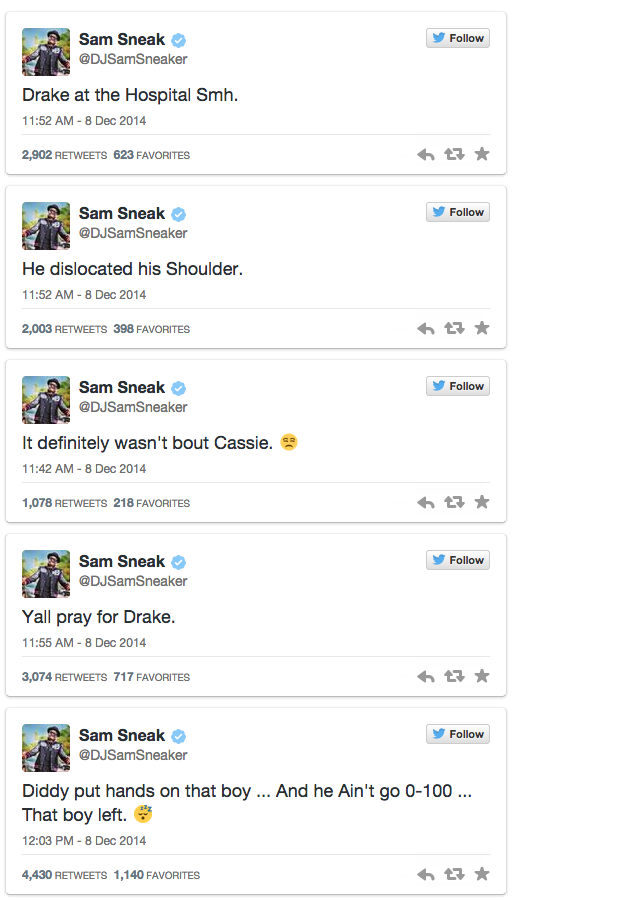 1 P Diddy Put Drake In The Hospital For Flirting With His Missus