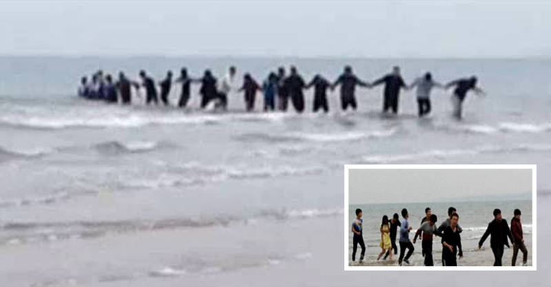 Students Form Human Chain, Stop Woman Committing Suicide In Sea 166