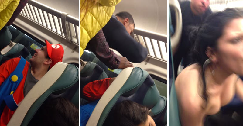 171 Sted Head Gets KOd By Passenger For Bullying Guy Dressed As Mario