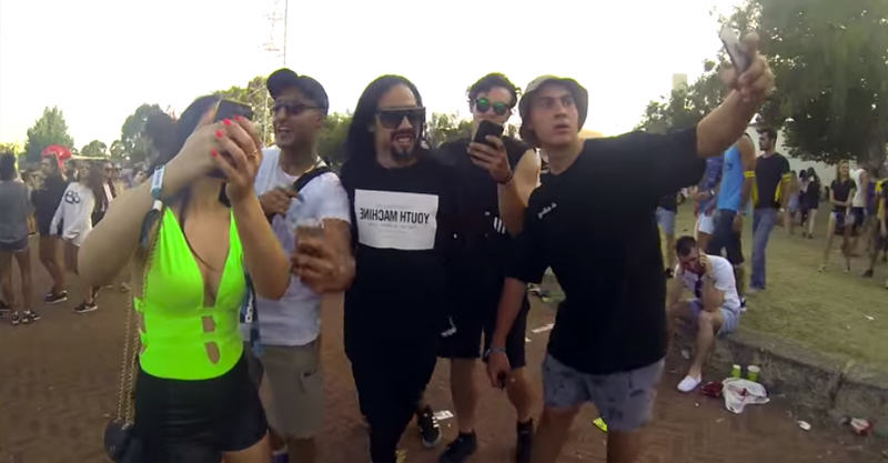 215 Walking Through A Music Festival Pretending To Be Steve Aoki