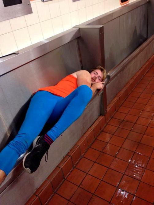 uni2 Uni Student Has A Few Too Many, Passes Out In Urinal