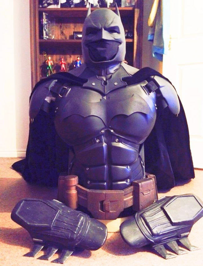 Man Makes His Own Epic Batman Suit With 3D Printer Print BM 3