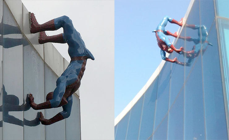 South Korean Hospital Buy Spiderman Boner Statue Une statue de Spider Man décrochée pour cause d'érection sopeople