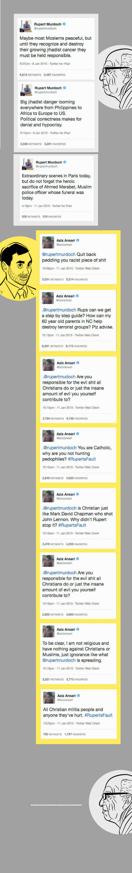 aziz Rupert Murdoch Got Racist And Aziz Ansari Dealed With It Like A Boss
