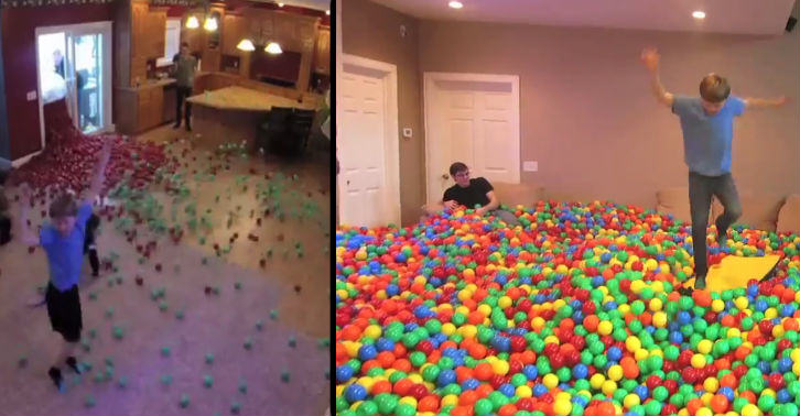 YouTube Prankster Turns Home Into Giant Ball Pit
