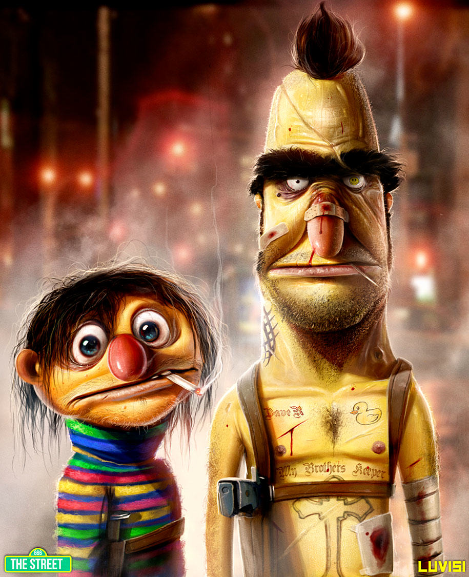 These Disturbing Pictures Will Sh*t All Over Your Childhood bert