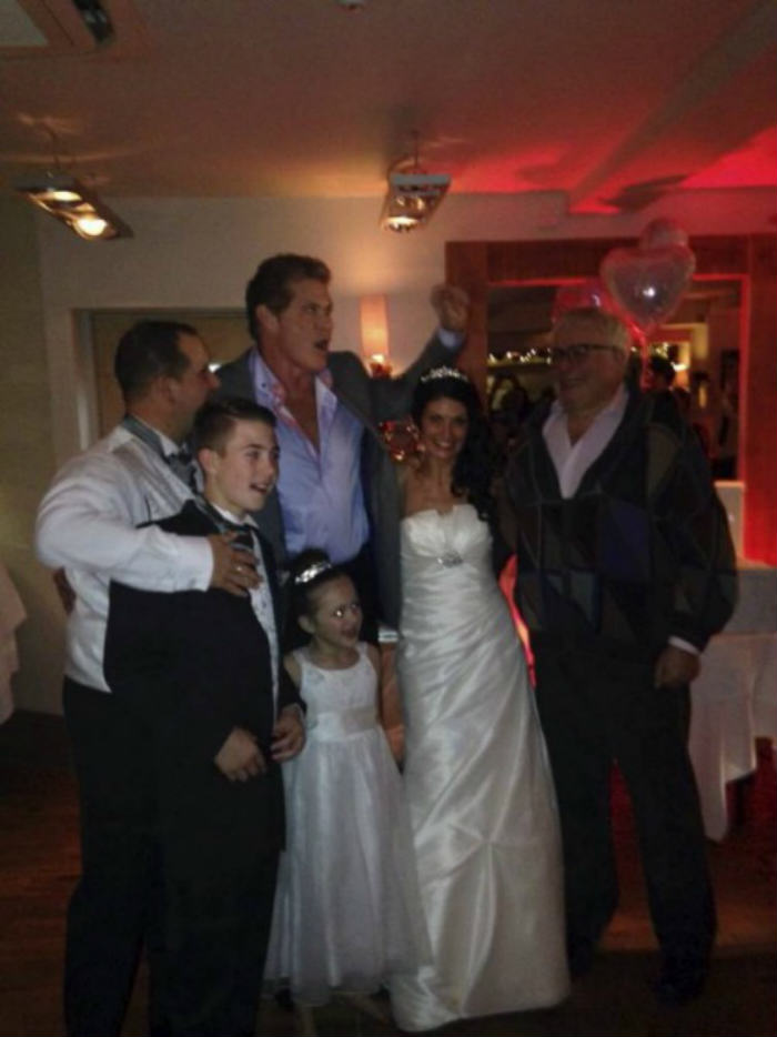 David Hasselhoff Crashes A Wedding In Southend hoff wedding