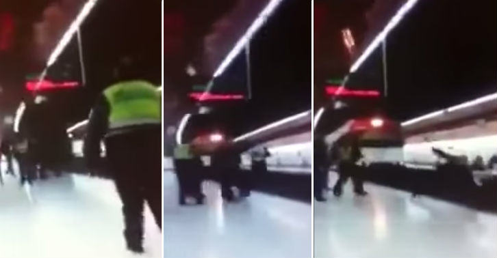 train fb thumb Spanish Policeman Murdered On Train Tacks In Madrid