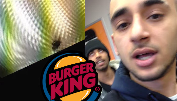 173 Mouse Spotted Above Burger King Ceiling In London