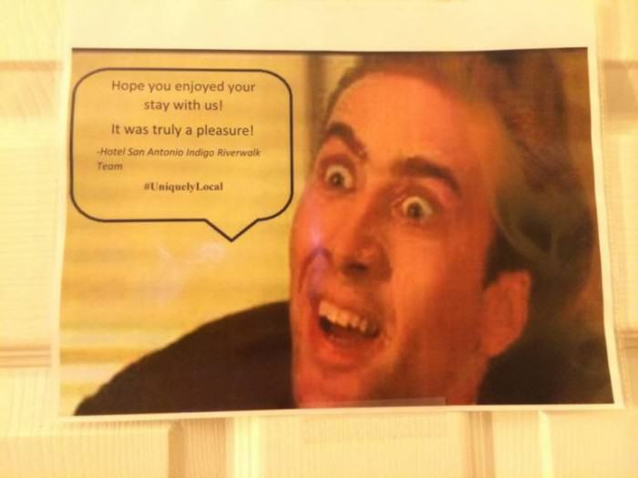 Girl Requests Nicolas Cage In Her Hotel Room, Gets Exactly That That ad 158676666 e1423077061454