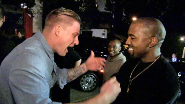 kanyeezy Kanye Lets Aspiring Rapper Freestyle For Him In The Street