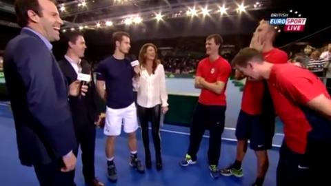 Andy Murray Reveals Team Mate Has A Side Chick On Live TV 4221396001 4100379309001 andy vs