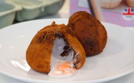 deep fried creme egg Hotel Serves Up Crème Egg Burgers For Easter