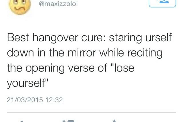 15 Best Hangover Cures As Judged By The Twitter Community hangover self involved 640x426