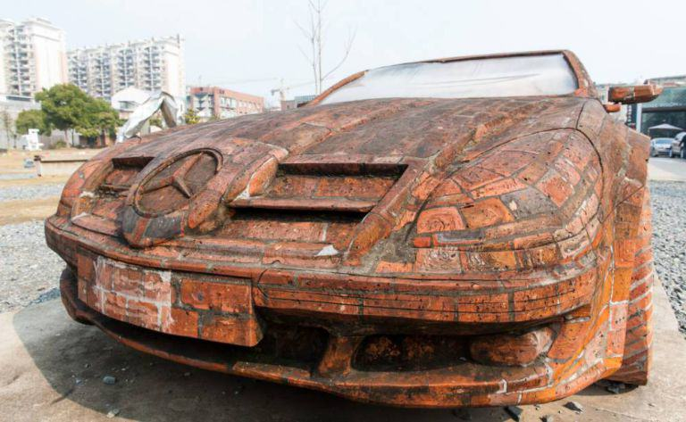 redbrick Man Builds Insane Mercedes Replica Using Only Red Bricks
