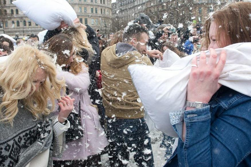 2 London Went Mental For International Pillow Fight Day