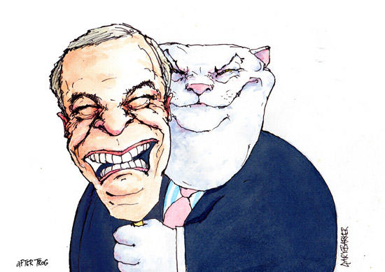 Nigel Farage cartoon fat cat Nigel Farage Reports The BBC To The Police Over A Joke