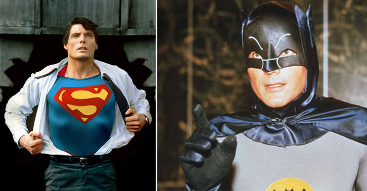 TN12 Christopher Reeve And Adam West Star In Amazing Old School Batman Vs Superman Mashup