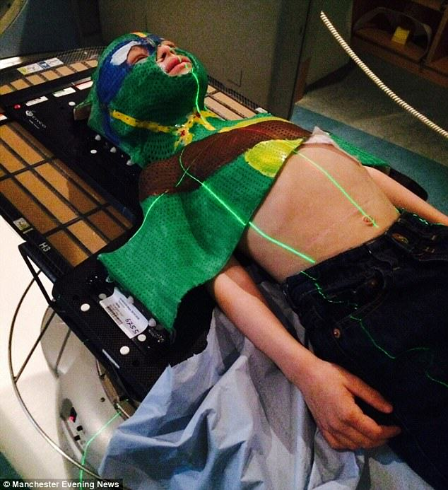 Boy Who Beat Cancer Dressed As Ninja Turtle For His Radiotherapy Treatment boy2