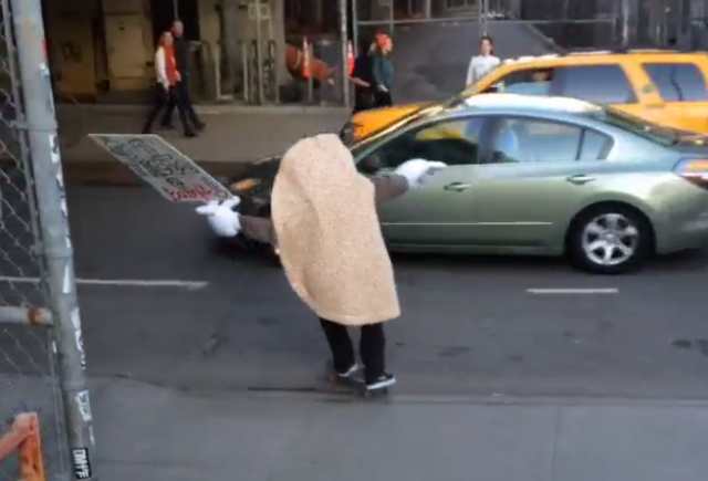 drunk Drunk Skateboarding Taco Faceplants Moving Car Because Physics