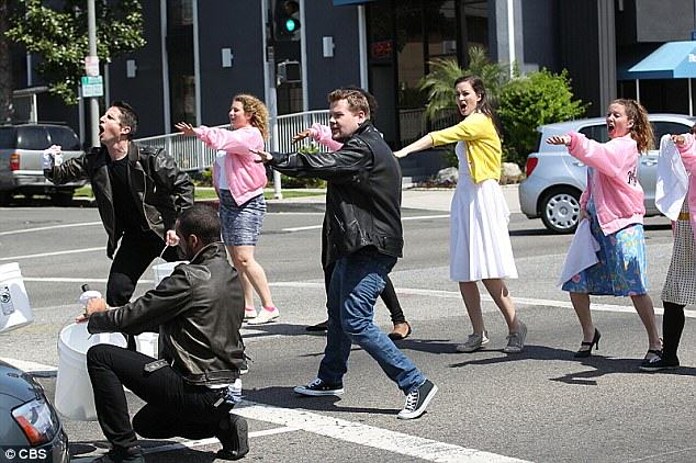 grease James Corden And Co Perform Grease On Busy Beverley Hills Intersection