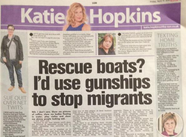 gunships Nobody Wants To Go On Katie Hopkins New Chat Show