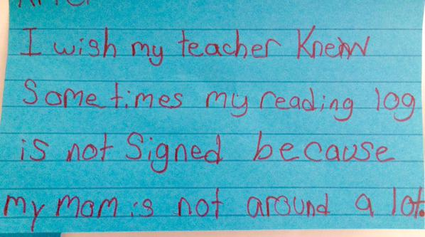 Teacher Asks Kids To Write What They Wished She Knew, Replies Will Break Your Heart kids 3