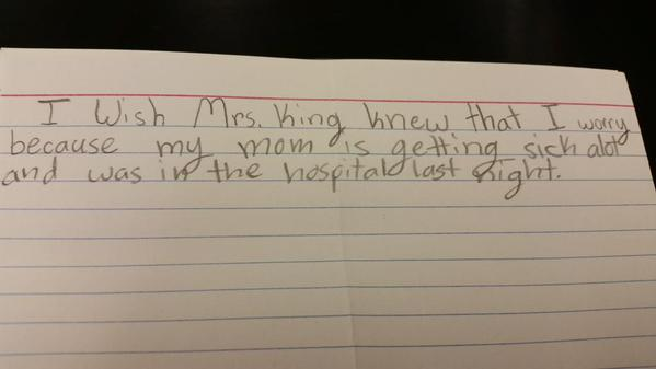 Teacher Asks Kids To Write What They Wished She Knew, Replies Will Break Your Heart kids 5