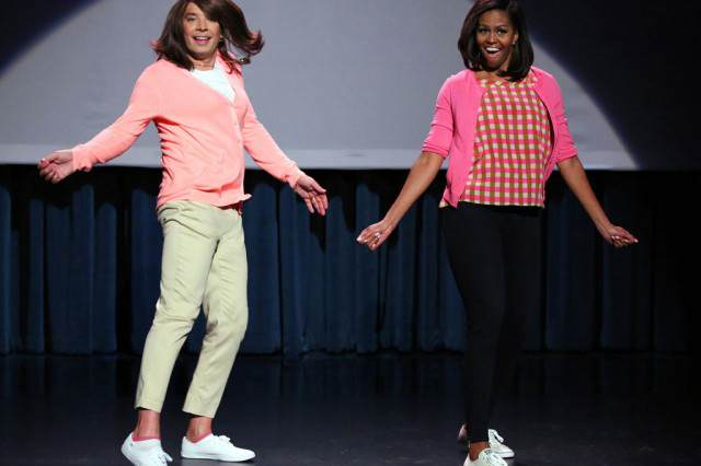 obama 640x426 Michelle Obama Joins Jimmy Fallon For Evolution Of Mum Dancing Part 2