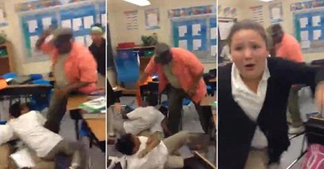 1100 Teacher Uses Belt As A Whip To Break Up Classroom Fight