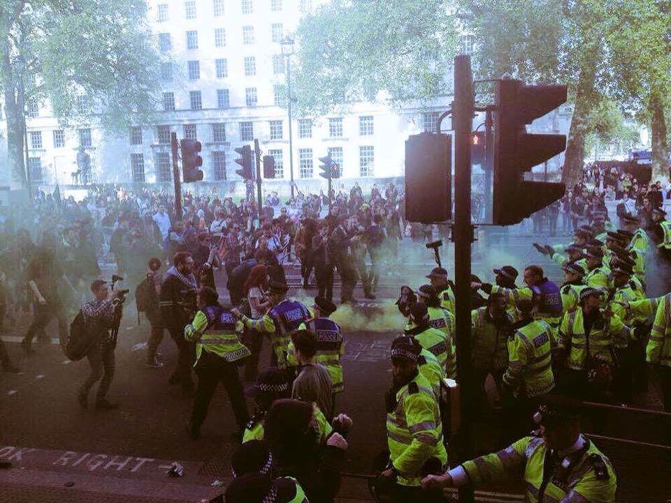 Riots Erupt In London Following Re Election Of The Conservatives 154