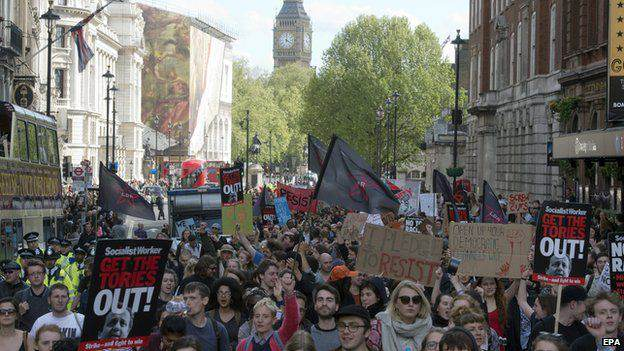 Riots Erupt In London Following Re Election Of The Conservatives 54