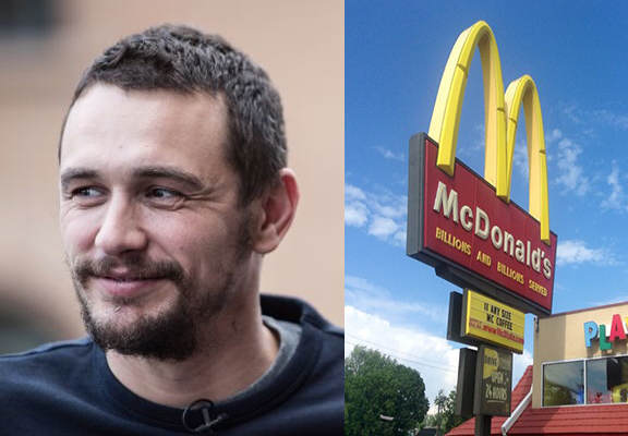 Franco McD WEB James Franco Worked For McDonalds Before He Was Famous And Loved It