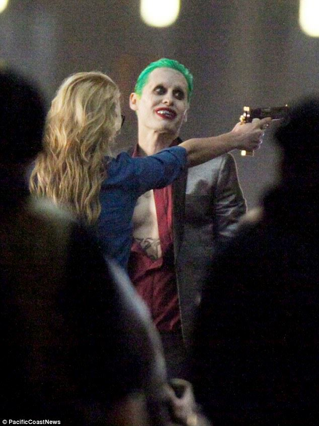 Leto joker 06 The Joker Looks Crazy As F*ck In These Suicide Squad Set Photos